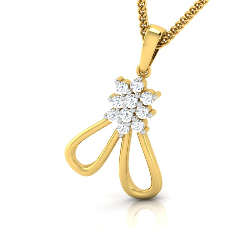 diamond studded gold jewellery - Higinia Casual Pendant - Pristine Fire - 1