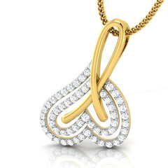 diamond studded gold jewellery - Aretusa Fashion Pendant - Pristine Fire - 1