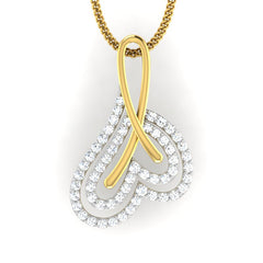 diamond studded gold jewellery - Aretusa Fashion Pendant - Pristine Fire - 2