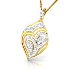diamond studded gold jewellery - Kacee Fashion Pendant - Pristine Fire - 1