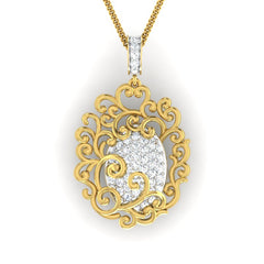 diamond studded gold jewellery - Shaleah Fashion Pendant - Pristine Fire - 2