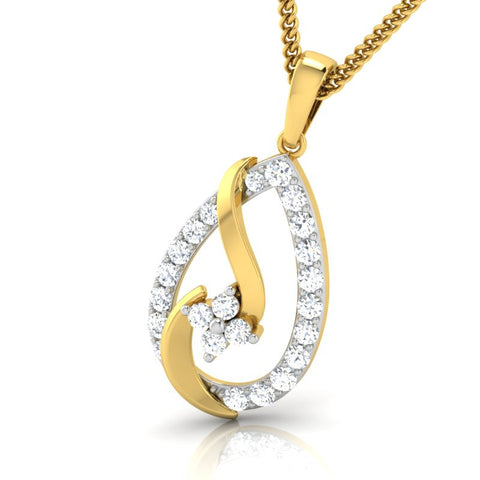 diamond studded gold jewellery - Sherleen Casual Pendant - Pristine Fire - 1
