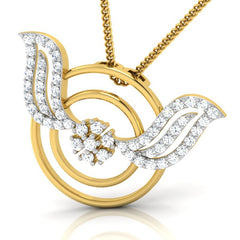 diamond studded gold jewellery - Margaux Fashion Pendant - Pristine Fire - 1