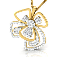 diamond studded gold jewellery - Parthenia Fashion Pendant - Pristine Fire - 1