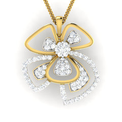 diamond studded gold jewellery - Parthenia Fashion Pendant - Pristine Fire - 2