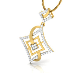 diamond studded gold jewellery - Adana Casual Pendant - Pristine Fire - 1