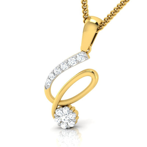 diamond studded gold jewellery - Serah Casual Pendant - Pristine Fire - 1
