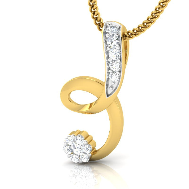 diamond studded gold jewellery - Rukan Casual Pendant - Pristine Fire - 1
