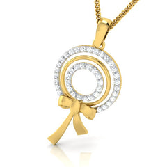 diamond studded gold jewellery - Alfonsa Fashion Pendant - Pristine Fire - 1