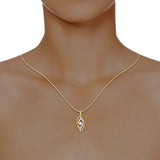 diamond studded gold jewellery - Raeanne Casual Pendant - Pristine Fire - 4