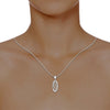 diamond studded gold jewellery - Marquesha Casual Pendant - Pristine Fire - 4