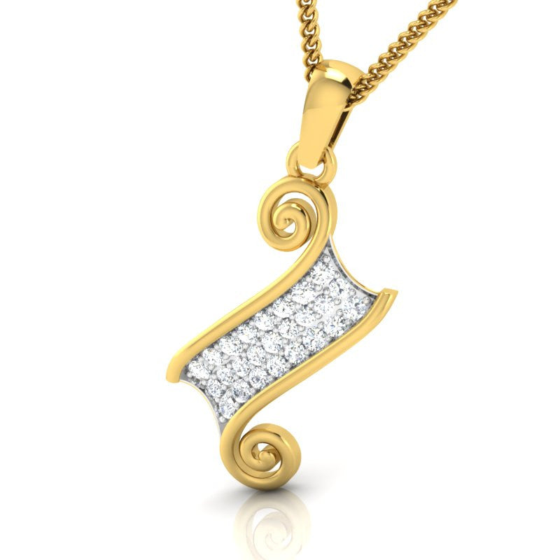 diamond studded gold jewellery - Greer Casual Pendant - Pristine Fire - 1