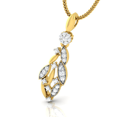 diamond studded gold jewellery - Chelsi Casual Pendant - Pristine Fire - 1