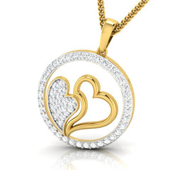 diamond studded gold jewellery - Danesha Fashion Pendant - Pristine Fire - 1
