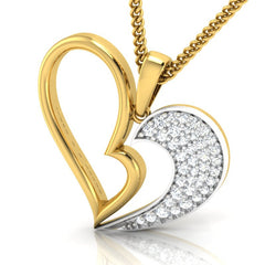 diamond studded gold jewellery - Lashanda Fashion Pendant - Pristine Fire - 1
