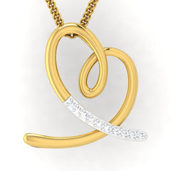 diamond studded gold jewellery - Jilli Casual Pendant - Pristine Fire - 2