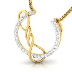 diamond studded gold jewellery - Yoshi Casual Pendant - Pristine Fire - 1
