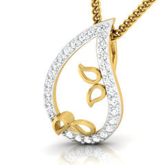 diamond studded gold jewellery - Ancelin Casual Pendant - Pristine Fire - 1