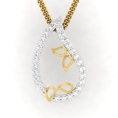 diamond studded gold jewellery - Ancelin Casual Pendant - Pristine Fire - 2