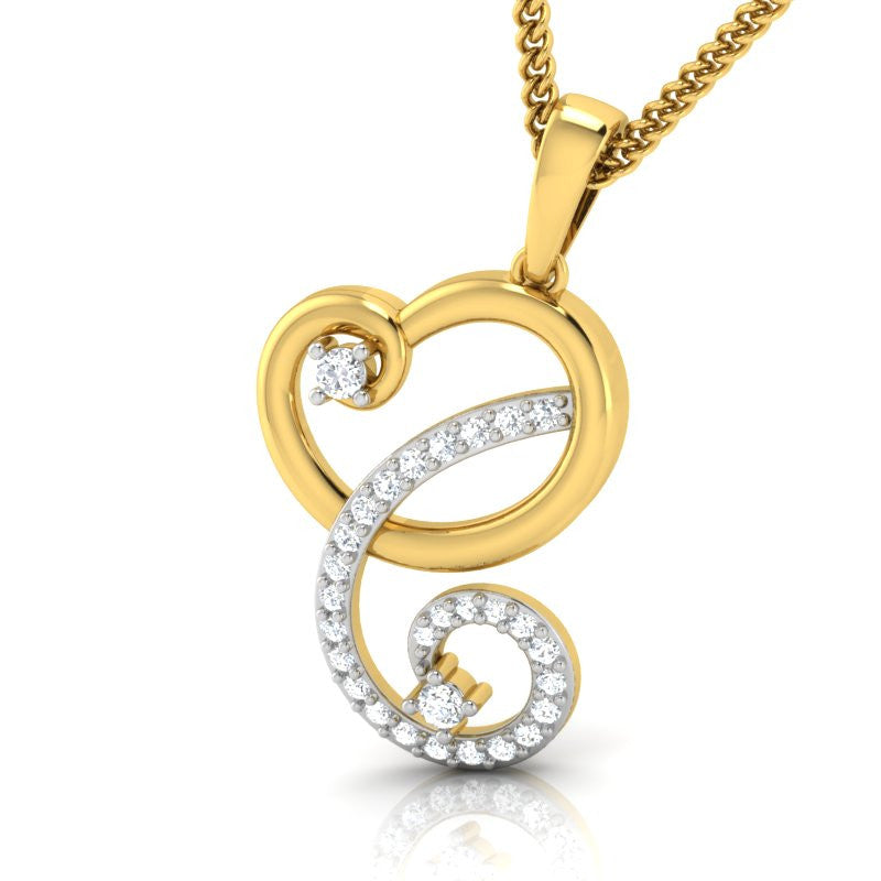 diamond studded gold jewellery - Ailani Casual Pendant - Pristine Fire - 1