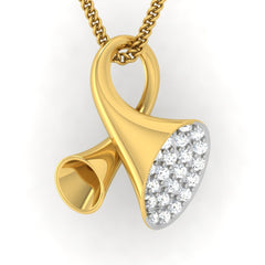 diamond studded gold jewellery - Earlene Fashion Pendant - Pristine Fire - 2