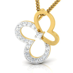 diamond studded gold jewellery - Afua Casual Pendant - Pristine Fire - 1