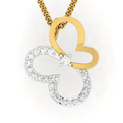 diamond studded gold jewellery - Afua Casual Pendant - Pristine Fire - 2