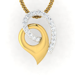 diamond studded gold jewellery - Mistie Casual Pendant - Pristine Fire - 2