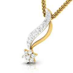 diamond studded gold jewellery - Venecia Casual Pendant - Pristine Fire - 1