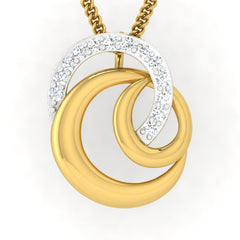 diamond studded gold jewellery - Moira Fashion Pendant - Pristine Fire - 2