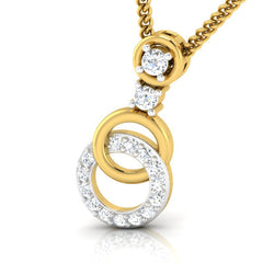 diamond studded gold jewellery - Aspen Casual Pendant - Pristine Fire - 1