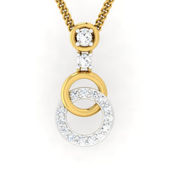 diamond studded gold jewellery - Aspen Casual Pendant - Pristine Fire - 2