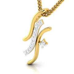 diamond studded gold jewellery - Betania Casual Pendant - Pristine Fire - 1
