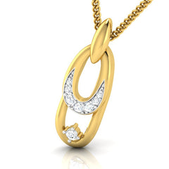 diamond studded gold jewellery - Abrienda Fashion Pendant - Pristine Fire - 1