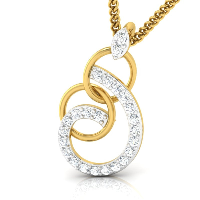 diamond studded gold jewellery - Emmily Casual Pendant - Pristine Fire - 1