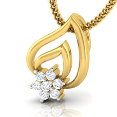diamond studded gold jewellery - Talma Casual Pendant - Pristine Fire - 1