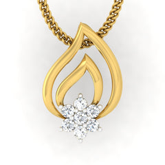 diamond studded gold jewellery - Talma Casual Pendant - Pristine Fire - 2