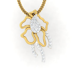 diamond studded gold jewellery - Servia Fashion Pendant - Pristine Fire - 2