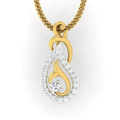 diamond studded gold jewellery - Colette Casual Pendant - Pristine Fire - 2