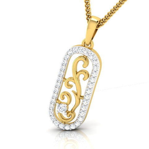 diamond studded gold jewellery - Chaylea Fashion Pendant - Pristine Fire - 1