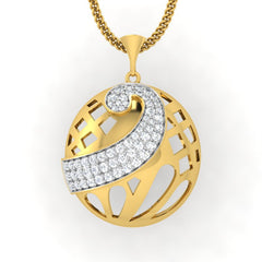 diamond studded gold jewellery - Sinya Fashion Pendant - Pristine Fire - 2