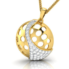 diamond studded gold jewellery - Cira Fashion Pendant - Pristine Fire - 1