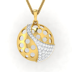 diamond studded gold jewellery - Cira Fashion Pendant - Pristine Fire - 2