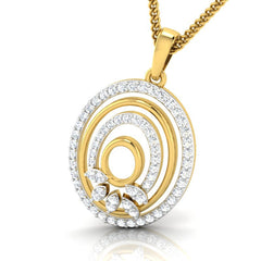 diamond studded gold jewellery - Josianne Casual Pendant - Pristine Fire - 1
