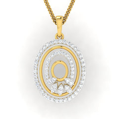 diamond studded gold jewellery - Josianne Casual Pendant - Pristine Fire - 2