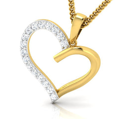 diamond studded gold jewellery - Brieanna Casual Pendant - Pristine Fire - 1