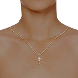 diamond studded gold jewellery - Aki Casual Pendant - Pristine Fire - 4
