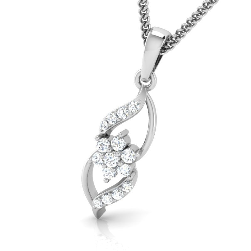 diamond studded gold jewellery - Eve Casual Pendant - Pristine Fire - 1