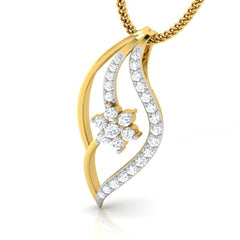 diamond studded gold jewellery - Ida Casual Pendant - Pristine Fire - 1