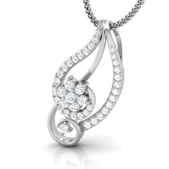 diamond studded gold jewellery - Ina Casual Pendant - Pristine Fire - 1